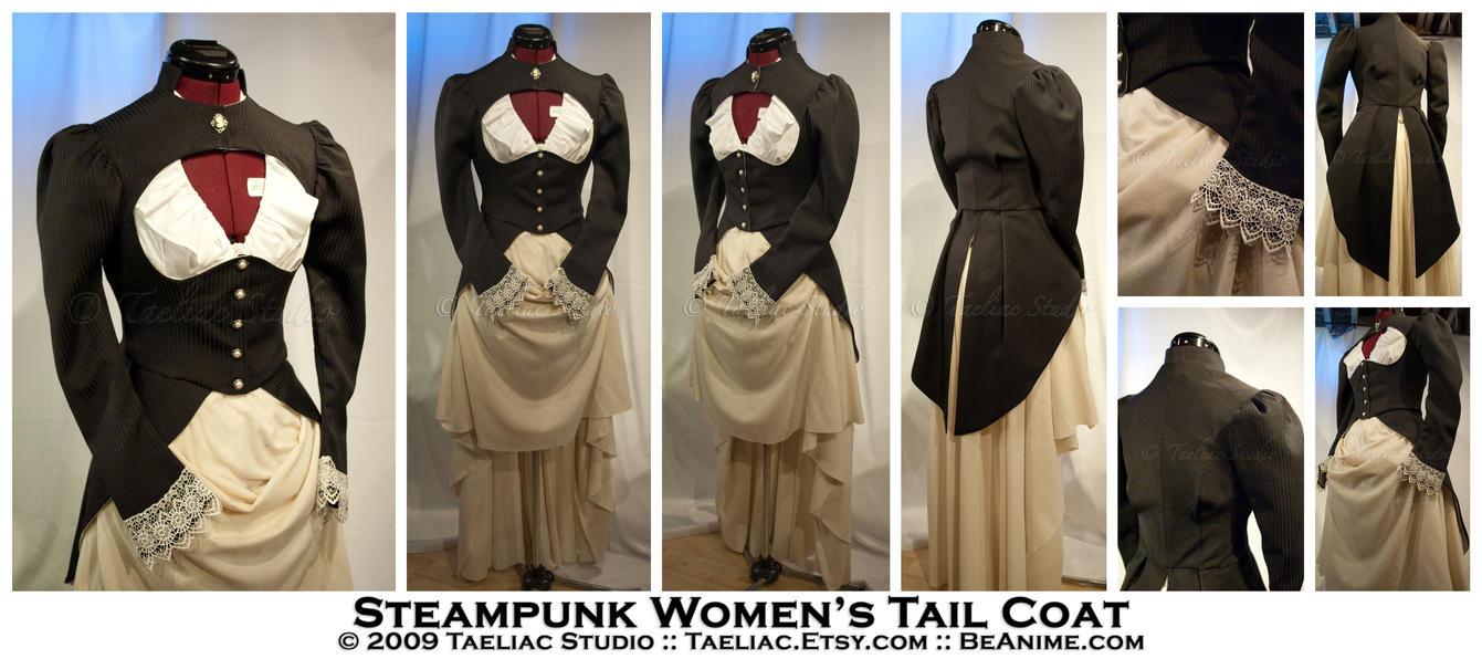 Steampunk Women's Tail Coat by taeliac