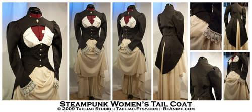 Steampunk Women's Tail Coat