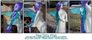 Silken Fairy Wings : Aqua