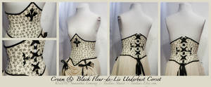 BlackCream Fleur-de-Lis Corset