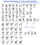 Katakana cross stitch pattern