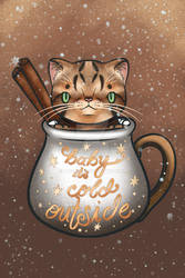 Holiday Teacup Cats - Cinnamon