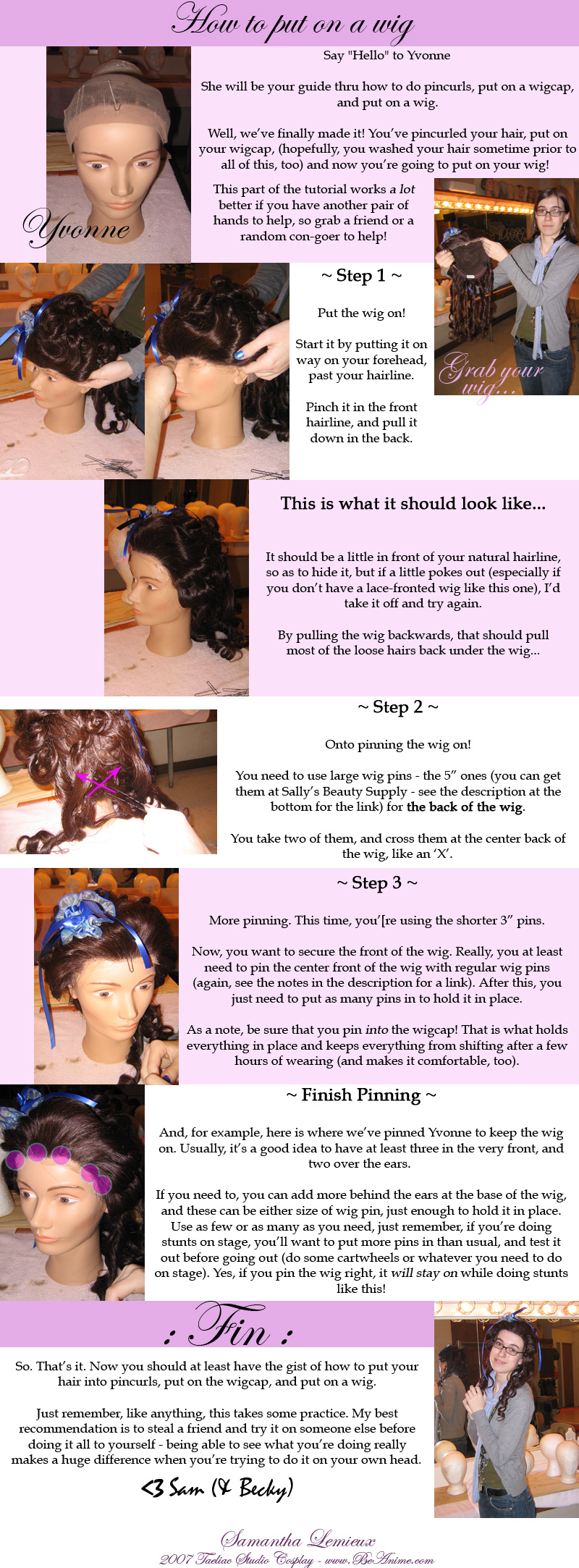 Tutorial: How to put on a wig by taeliac