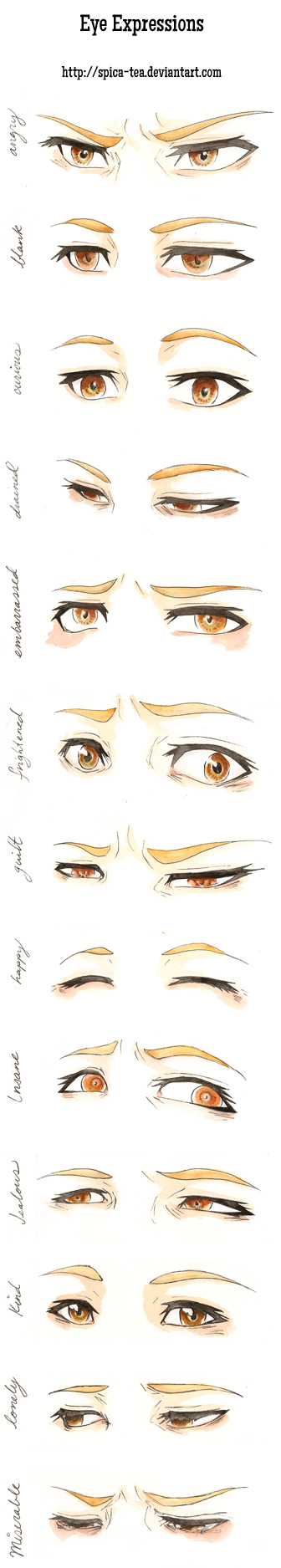 Eye expressions practice by CalSparrow