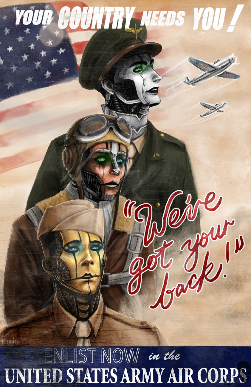 WWII Air Corps Poster