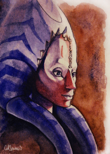 Shaak Ti ACEO by CalSparrow