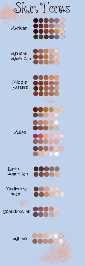 Skin tones palette