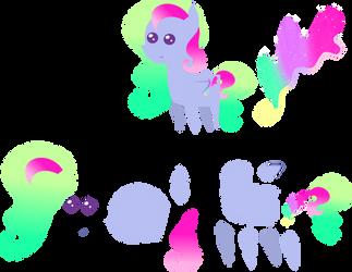 Pointy Pony Aurora Swirl by digimonlover101