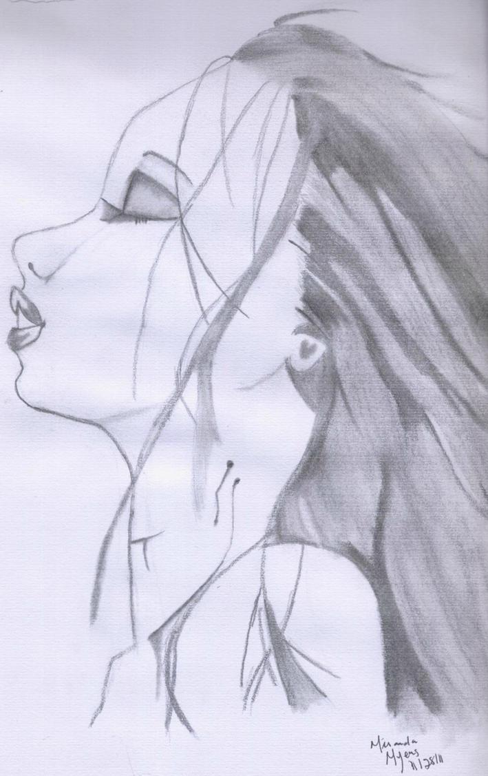 Vampire kiss half by MirandaLynn-Myers