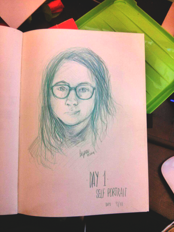(day 1-self portrait)30 day challenge by bispau