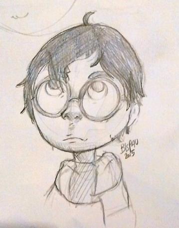 Harry Potter sketch by bispau