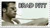 Brad Pitt Stamp by ladamadelasestrellas