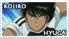 Kojiro Hyuga Stamp by ladamadelasestrellas