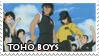 Toho Boys Stamp by ladamadelasestrellas