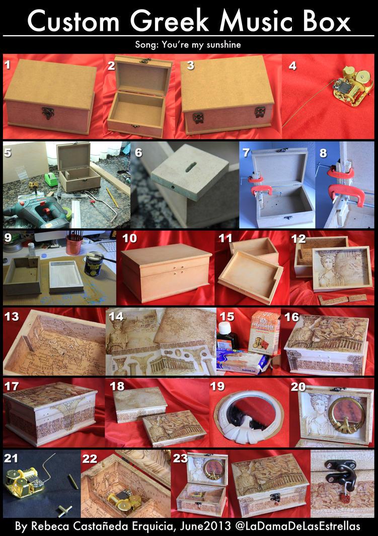 Custom Music Box Process by ladamadelasestrellas