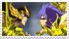 Aioros vs Saga Stamp by ladamadelasestrellas