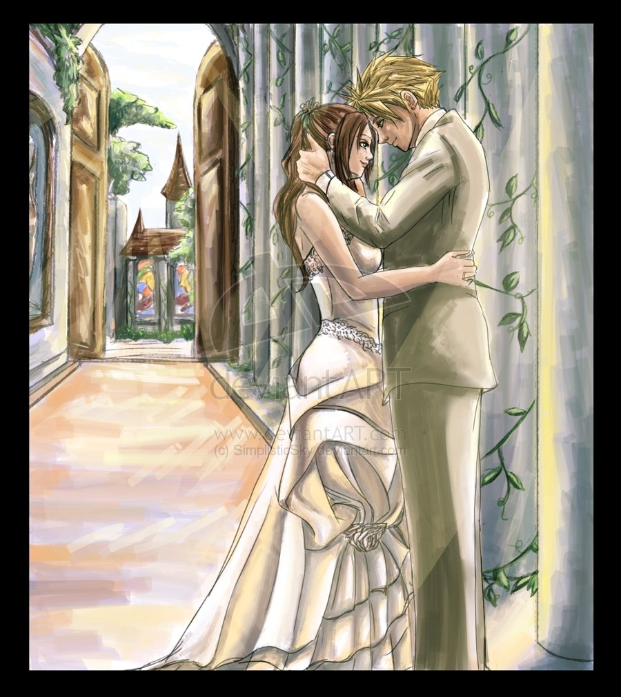 Tifa and cloud wedding dress