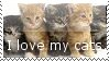 I Love My Cats Stamp by Riksie-Dixie