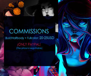 Commissions fullcolor halfbody/bust 20 USD! by MissKiwiArt