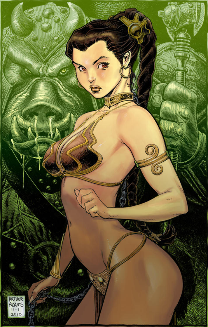 Leia by Arthur Adams by k-omer