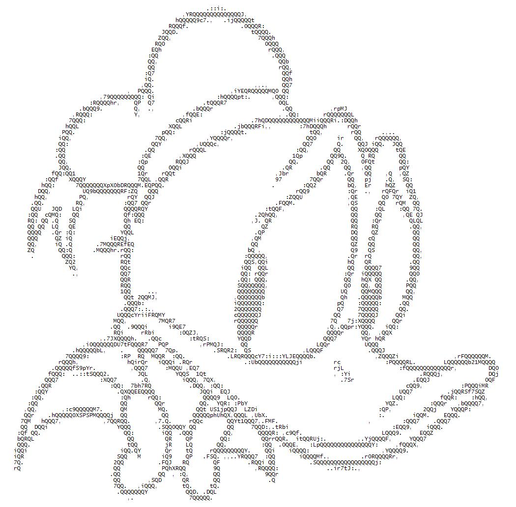 Donald Duck ASCII by ibx93