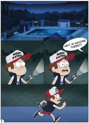 Gravity Falls - A Dangerous Game page 01 by Akira-Devilman666