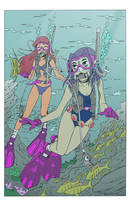 Teen Titans  Scuba Duo V2 by Akira-Devilman666