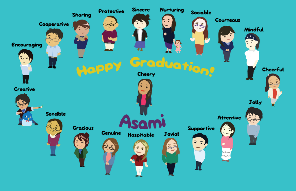 Graduation (Farewell) Card for my Co-Worker Asami by ...
