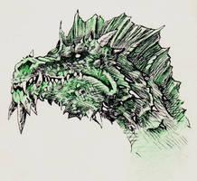Dragons - Green Dragon by yunuskocatepe