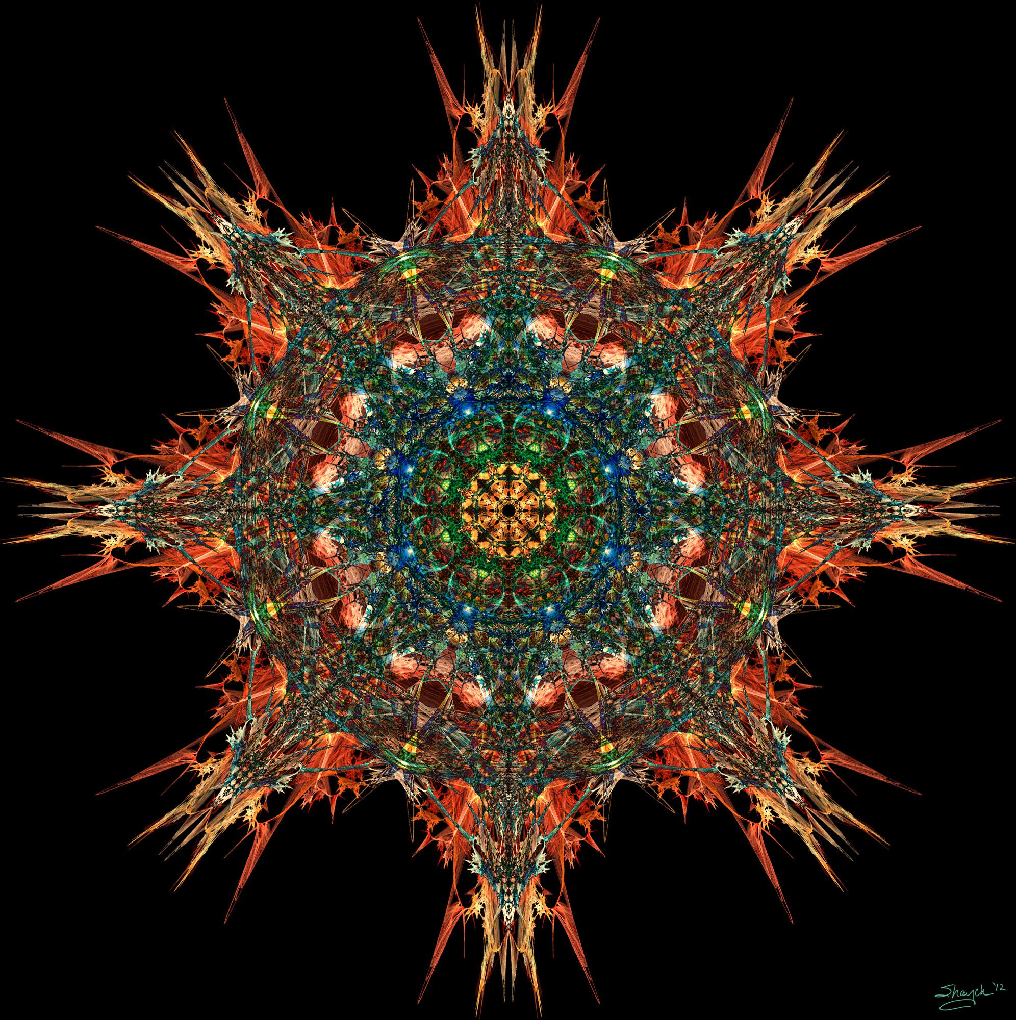 Chaos dragon mandala by shaych03 on deviantart - Mandala de dragon ...