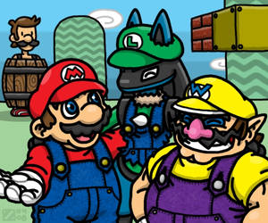 Super -ario Bros.