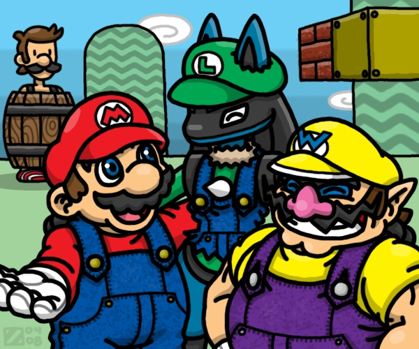 Super -ario Bros. by professorhazard