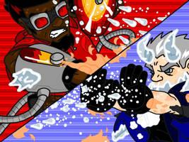 Fire VS Ice by professorhazard