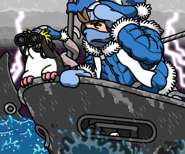 Billiam and the Squid by professorhazard