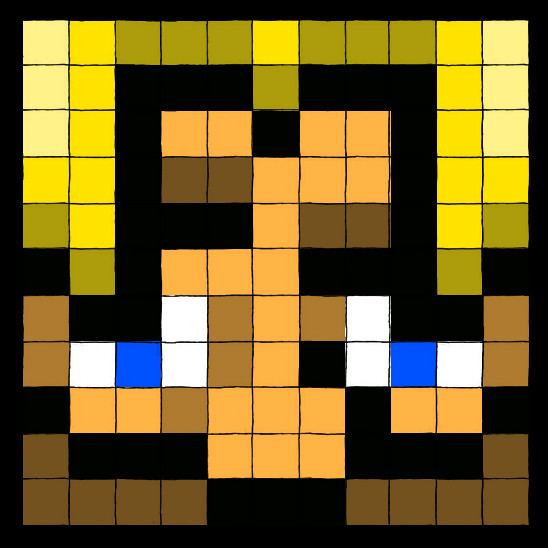 Pixelized Prof Portrait by professorhazard