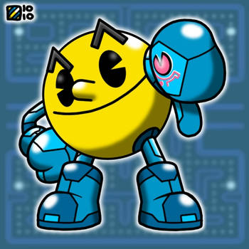 Zero Suit Pac-Man by professorhazard