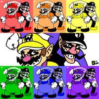 Warhol Wario Bros. by professorhazard