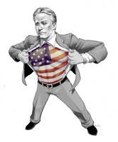 Jon Stewart: American Hero by PreyingDantis
