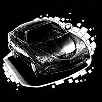 Automobile Scratchboard by PreyingDantis