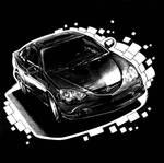 Automobile Scratchboard