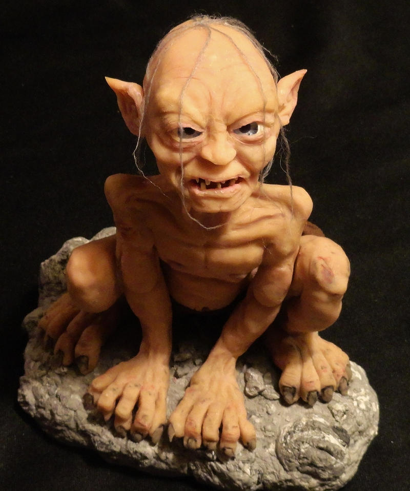 Ooak Lord Of The Rings Gollum Clay Sculpture Pic 1 By