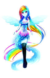 Rainbow Dash by Koveliana