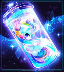 Rainbow in bottle by Koveliana
