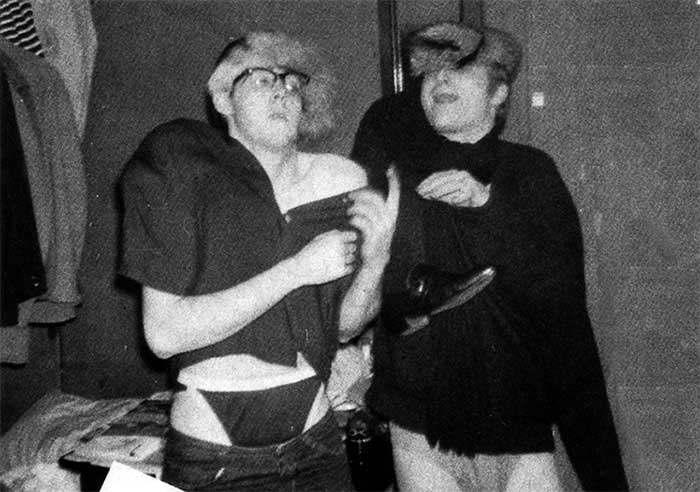 Paul-McCartney-and-John-Lennon-being-silly by sandw1chl0vr