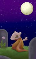 Cubone at the graveyard by MagicMoonBird