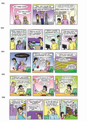 Callwork comic strips colored by shadowarriors