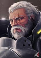 Overwatch: Reinhardt by KaizerChang