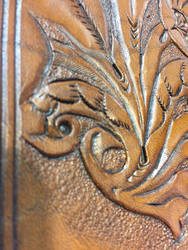 Leather tooling flower