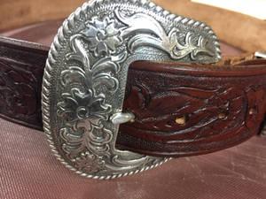 #leather Belt #tooled Leather