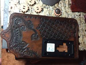 Leather door bell cover